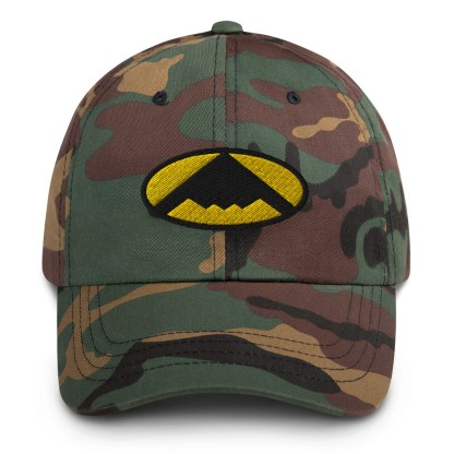 airplaneTees B2 Bomber Dad hat – In the style of Batman 1