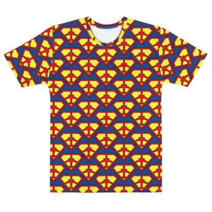 """airplaneTees Superpilot Men's all over T-shirt """"Superman Style"""" 1"""