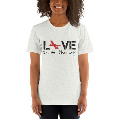 airplaneTees LOVE is in the air tee... Short-Sleeve Unisex 5