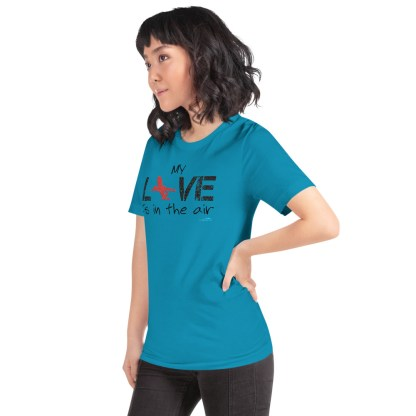 airplaneTees MY Love is in the air tee... Short-Sleeve Unisex 44