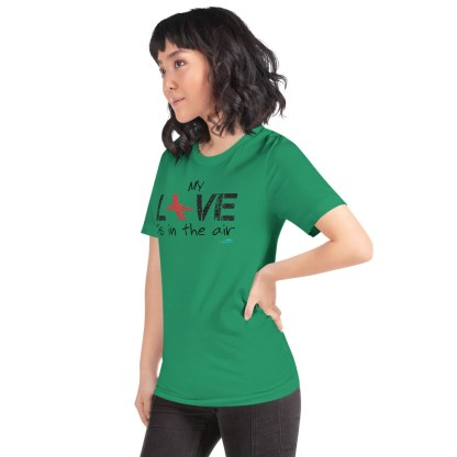 airplaneTees MY Love is in the air tee... Short-Sleeve Unisex 32