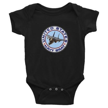 airplaneTees US Navy Brat Onesie... Rabbit Skins Infant Bodysuit 3