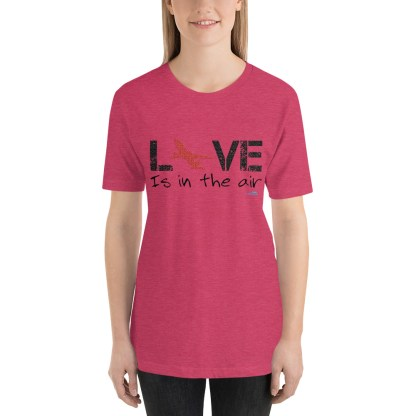 airplaneTees LOVE is in the air tee... Short-Sleeve Unisex 35