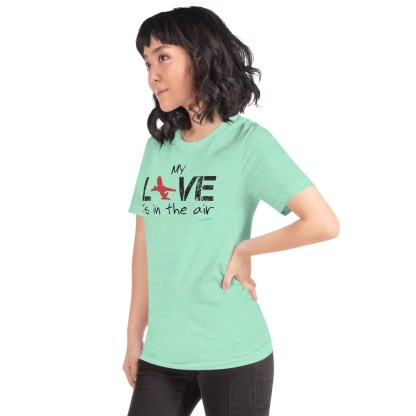 airplaneTees MY Love is in the air tee... Short-Sleeve Unisex 47