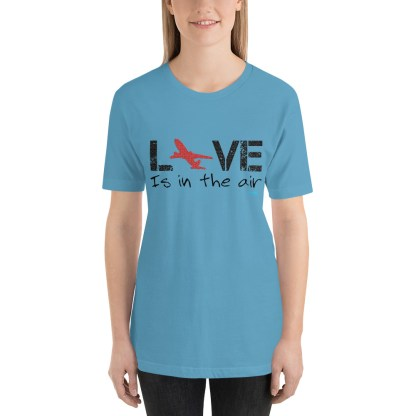 airplaneTees LOVE is in the air tee... Short-Sleeve Unisex 29