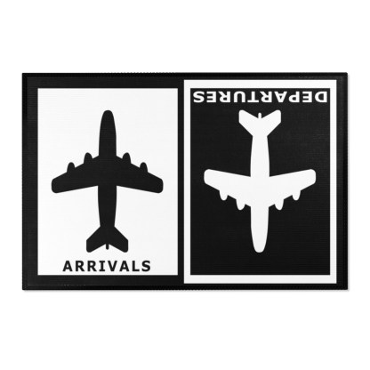 airplaneTees Arrivals Departures Area Rug 1