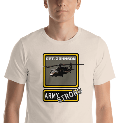 airplaneTees PERSONALIZE IT - Army Strong Tee, Army Mom, Dad, Rank, Class you name it. Short-Sleeve Unisex T-Shirt 25