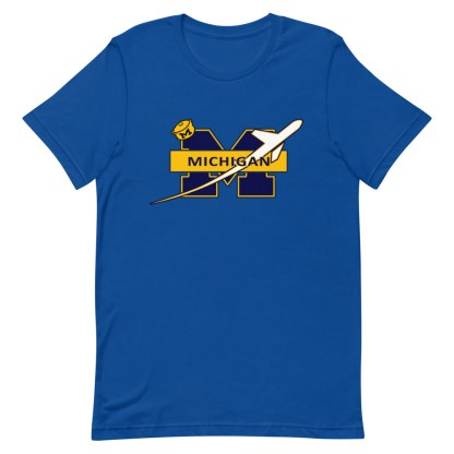 airplaneTees Michigan Wolverines Tee, with an airplane... Short-Sleeve Unisex 13