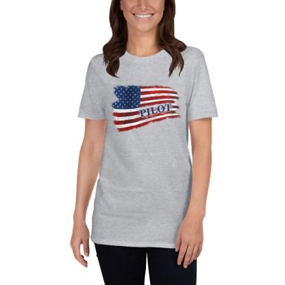 airplaneTees Pilot US Flag Tee... Short-Sleeve Unisex 6