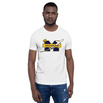 airplaneTees Michigan Wolverines Tee, with an airplane... Short-Sleeve Unisex 3