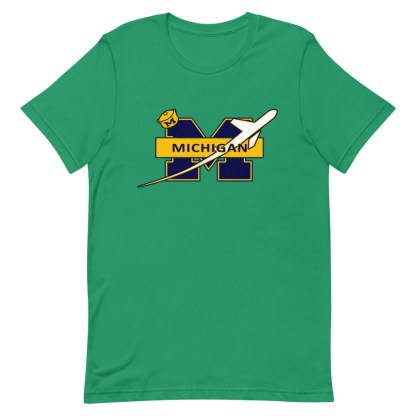 airplaneTees Michigan Wolverines Tee, with an airplane... Short-Sleeve Unisex 12