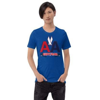 airplaneTees CUSTOM AA Tee, American Guy/Gal Tee Short-Sleeve Unisex 3