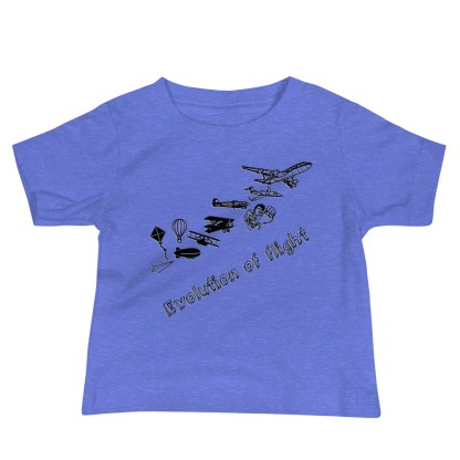 airplaneTees Evolution of Flight infant tee... Jersey Short Sleeve 4
