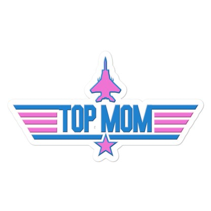 airplaneTees Top Mom stickers - Light... Bubble-free 1