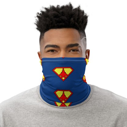 airplaneTees Super Fighter Pilot Face Covering/Neck Gaiter 1