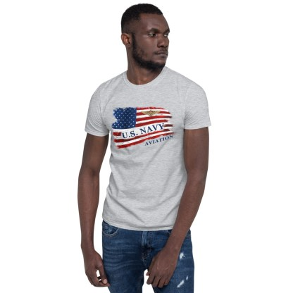 airplaneTees US Navy Aviation American Flag Tee... Short-Sleeve Unisex 2