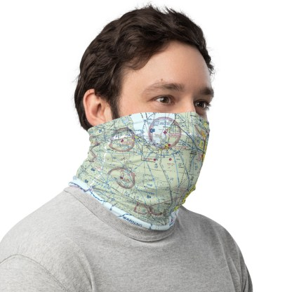 airplaneTees MIA - Miami VFR Sectional Face Mask/Face Covering/Neck Gaiter 3