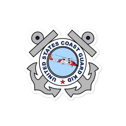 airplaneTees US Coast Guard Kid Stickers... Bubble-free 3