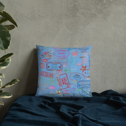 airplaneTees Going Places Pillow - Light Blue 20