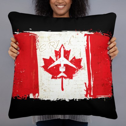 airplaneTees Canada CRJ eh Pillow - Different Images on each side 6