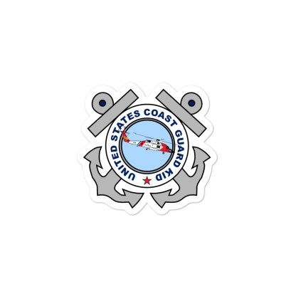 airplaneTees US Coast Guard Kid Stickers... Bubble-free 2
