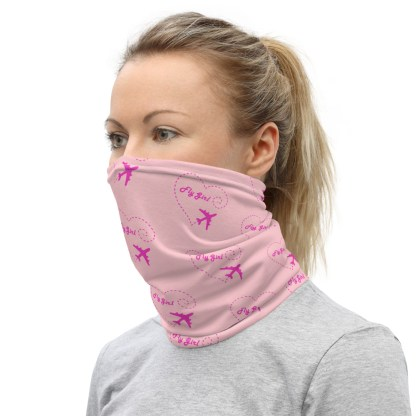 airplaneTees Fly Girl Face Mask/Face Covering/Neck Gaiter 3