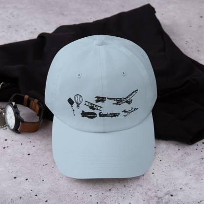 airplaneTees Evolution of Flight Dad hat 4