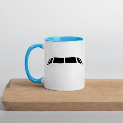 airplaneTees Airbus flightdeck windows Mug... with Color Inside 3