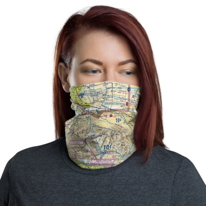 airplaneTees LAX - Los Angeles VFR Sectional Face Mask/Face Covering/Neck Gaiter 2