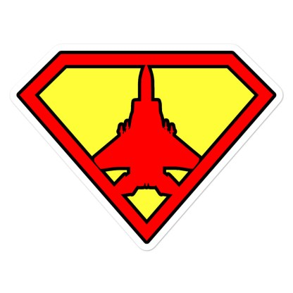 airplaneTees Super Fighter Pilot Stickers... Bubble-free 1