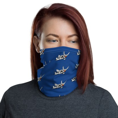 airplaneTees SuperPlane Face Mask/Face Covering/Neck Gaiter - Dark Blue 2