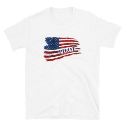 airplaneTees Pilot US Flag Tee... Short-Sleeve Unisex 7