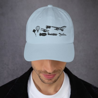 airplaneTees Evolution of Flight Dad hat 2