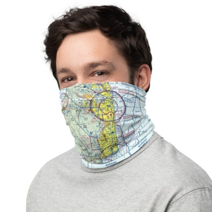airplaneTees MIA - Miami VFR Sectional Face Mask/Face Covering/Neck Gaiter 1