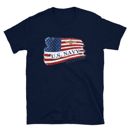 airplaneTees US Navy Aviation American Flag Tee... Short-Sleeve Unisex 8