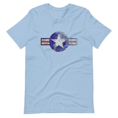 airplaneTees Roundel US Armed Forces tee weathered...Short-Sleeve Unisex T-Shirt 11