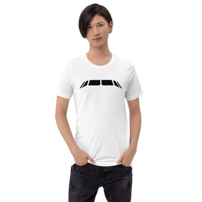 airplaneTees Airbus Flightdeck Windows Tee... Short-Sleeve Unisex 3