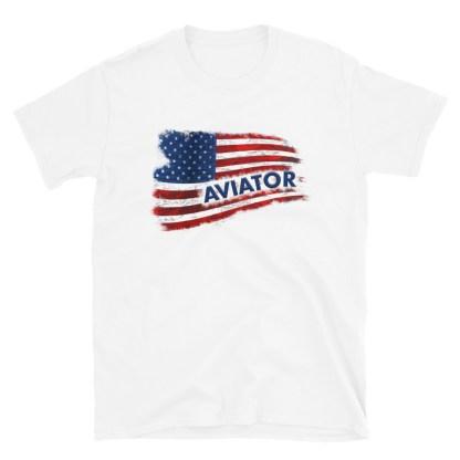 airplaneTees Aviator US Flag tee... Short-Sleeve Unisex 6