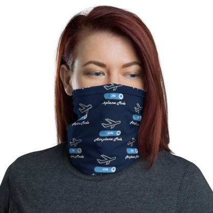 airplaneTees Airplane Mode ON Face Mask/Face Covering/Neck Gaiter 1
