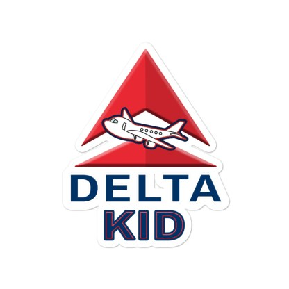 airplaneTees Delta Kid Stickers... Bubble-free 3
