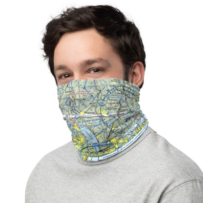 airplaneTees NYC - New York VFR Sectional Face Mask/Face Covering/Neck Gaiter 3