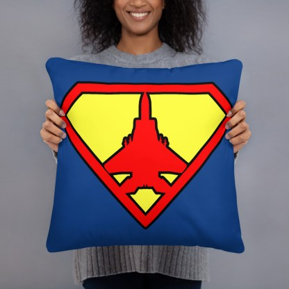 airplaneTees Super Fighter Pilot Pillow 5