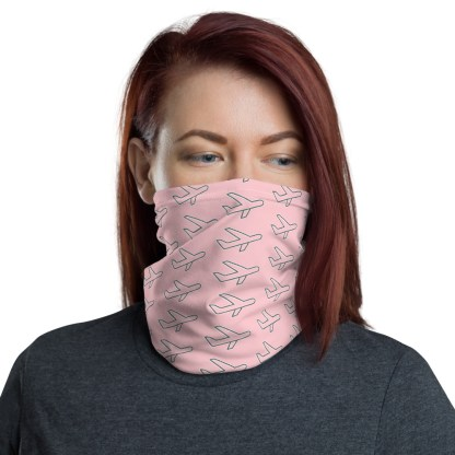 airplaneTees Airplane Face Mask/Face Covering/Neck Gaiter - Pink 2