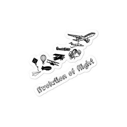 airplaneTees Evolution of flight stickers... Bubble-free 2