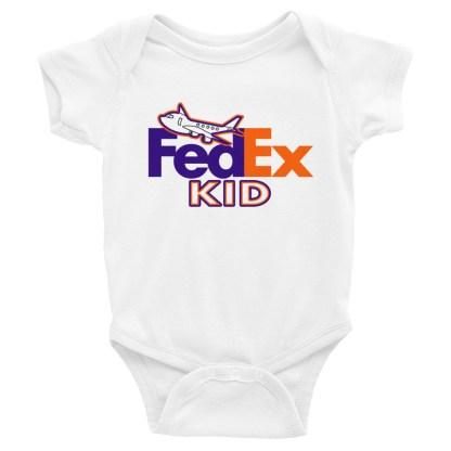 airplaneTees FedEx Kid Onesie... Rabbit Skins... Infant Bodysuit 3