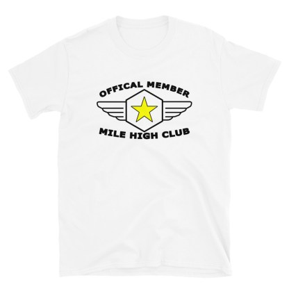 airplaneTees Official Member Mile High Club Tee Short-Sleeve Unisex 4