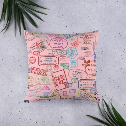 airplaneTees Going Places Pillow - Pink 6