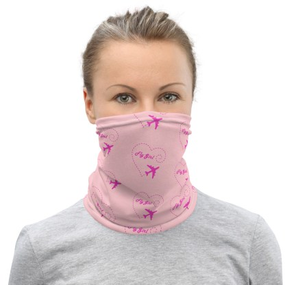 airplaneTees Fly Girl Face Mask/Face Covering/Neck Gaiter 1