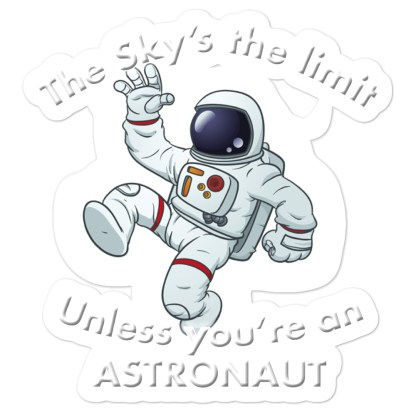 airplaneTees The Sky's the limit sticker - Option 1... Bubble-free 1