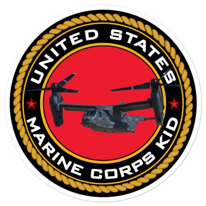 airplaneTees US Marine Corps Kid Stickers... Bubble-free 1